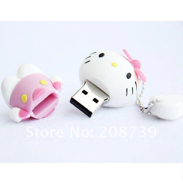 Free Shpping! pink hello kitty usb flash drive 1GB/2GB/4GB/8GB/16GB ...