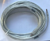 Transparent white With two ferrite10M USB printer cable
