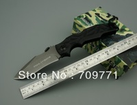 Pohl Force 440C Blade Folding Knife titanium ion Survival knife Camping 57 HRC hardness Outdoor knife FREE SHIPPING