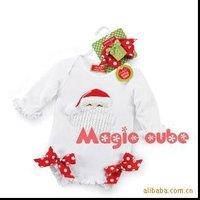 In stock ---- Christmas Romper Baby rompers kids girl infant Children's girls rompers 1130B ty