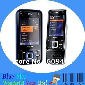 Singapore post free shipping Nokia N81 original unlocked phone Russsian keyboard