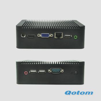 price of thin client pc,Qotom-Q100-S02 2G RAM,320G HDD+64G SSD+300M WIFI,mini windows pc,linux ubuntu mini pc