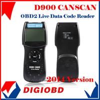 Professional EOBD/OBDII Live data Code Reader Scanner D900 canscan tool D-900 code SCANNER TOOL