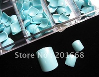 25 Box of blue color Toe Full Nail Acrylic False Toenail Tip For 3D Painting Decoration Design - NA408B