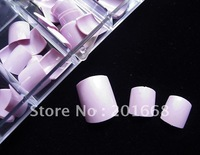 25 Box of purple Toe Full Nails Acrylic False Toenail Tip For 3D Painting Decoration Design - NA408F