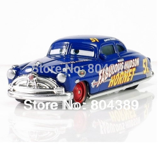 100% original--Rare Pixar Cars diecast figure TOY Fabulous Doc Hudson Hornet Supercharged free shipping (pieces/lot)(China (Mainland))