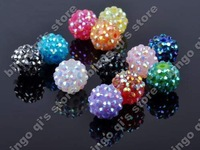 Wholesale 20pcs Mix color Mesh Spacer Beads Fit Charm acrylic crystal spacers free shipping Bbd5