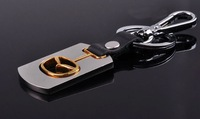"Car Key Chain""3D Key Chains Badge/Logo Car Key Ring. Leather Key Chain With Box 10Pcs/Lot Free Ship Kc244"