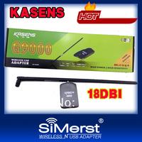 Kasens KS-G9000 ralink3070 18db 6000mW high power wireless usb adapter free shipping factory wap wpa2 password 802.11 b/g/n lan