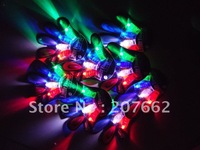 Free Shipping 72pcs/lot(18sets) LED flashing ring led finger lights laser finger beam for Party
