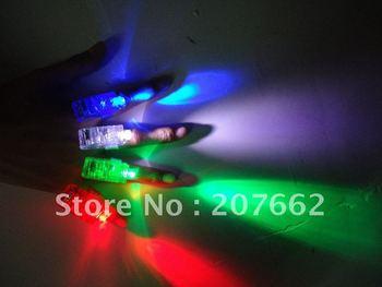 Free Shipping 500pcs/lot(125sets) 4.5*1.5*1.5cm LED  ring led finger lights laser finger beam for Party