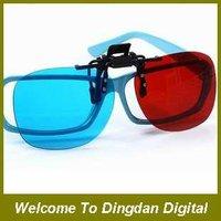 Free shipping  3D glasses  Clip 3D glasses RED/Blue lens, D007