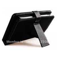 Free shipping!Tablet holder - Leather case with USB mini Keyboard for 8 inch Tablet PC