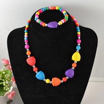 Handmade children jewelry sets!children necklace+bracelet products Christmas kid gift N CS53