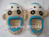 New Arrival Baby Monkey Shoes,Baby Crochet Shoes, 30pairs/lot  Free Shipping
