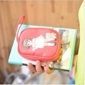 Free Shipping New Korea PU Kawaii doll coin bag, wallet purse,Phone bag wholesale