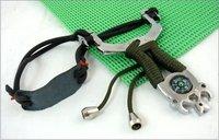 ROCK TRIBE SLINGSHOT LIGHTER,Steel Slingshot/catapult, with nested compass handle+Free shipping