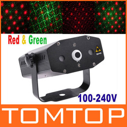 Mini Projector Red&Green Laser DJ Party Stage Lighting Stage Light Club Disco Moving Party Light Free shipping wholesale(China (Mainland))