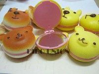 Free Shipping/cartoon Bear squishy charm (L) /pocket cosmetic mirror/cell phone chain/mobile pendant/Strap 8708