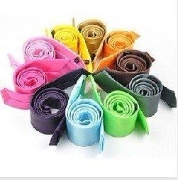 Free Shipping Women and Men's 5cm Narrow Tie Imitated Silk Tie Wholesale