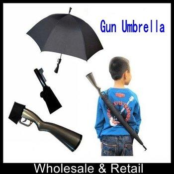 Free shipping 2011 new arrival umbrella kids umbrella fashion umbrella pretty cool and special gun umbrella for gifts(10pcs/lot)