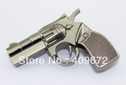 Retail genuine 2G/4G/8G/16G/32G flash drive pen drive usb flash drive simulation metal pistol gun Free shipping+Drop shipping(China (Mainland))