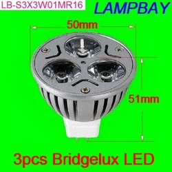 BEST shipping fee Bridgelux LED spotlight 12V MR16 spotlight replace to halogen 50W CE certificate 2 years warranty(China (Mainland))