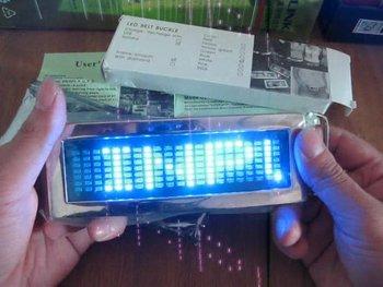 DIY Blue Chrome Flashlight Scrolling LED Belt Buckle