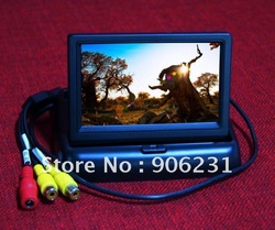 "Free shipping!! High Quality !Sellable 4.3"" TFT LCD Foldable Car Dashboard Rear View Car Monitor(China (Mainland))"