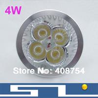 4W LED spotlight GU10 E27 MR16 AC85-265V aluminum led bulb lamp for home decoration,40pcs/lot, free shipping