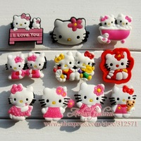 Free Shipping!!!WHOLSALE !! HOT SELING!! 20 pcs Lot PVC KITTY ,shoe accessories  .shoe charms .shoe decoration for clogs