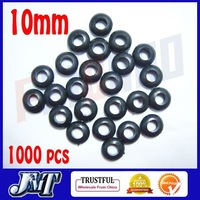 F02030 10mm1000pcs rubber ring bond / Grommet Nuts for Cable protection / Anti-Friction / fix helicopter canopy +free shipping