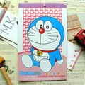doraemon stickers notebook,free shipping,pvc14cm x 22 cm x 6sheets,10pcs/lot,kid cartoon note sticker wholesale/retail