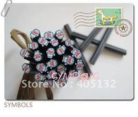 e-24 Free Shipping 100pcs/lot 5mm Blue Kitty Cane Fancy Nail Art  Polymer Clay Cane Nail Art Decoration