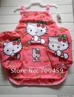 24Set Children hello kitty Aprons Sleeves Set