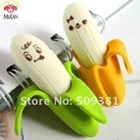 30 pcs/Lot ( 2 pcs/bag ), Free Shipping, Promotion Novelty Banana Eraser, Cartoon Fruit Style Eraser, Cute Gift