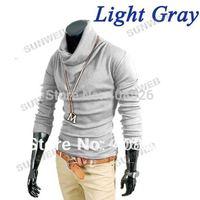 2014 Korea Fashion Men's Shirts Casual Slim Fitting long sleeve cotton T-shirt Tee Tops free shipping 6 colors 4 size 3513