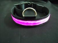 LED Flash pet cat dog collar neck strap LED dog leather