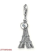 Free Shipping 925 sterling silver  Charm Eiffel Tower  charm  pendant. Accept mix wholesale and dropship order!