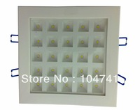 DHL free shipping new product 25w square recessed Led ceiling light/Led down light/Led lattice light,size:210mm*210mm