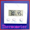 LCD Digital Indoor Thermometer Hygrometer Humidity Meter Desk White