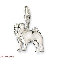 Free Shipping Sterling Silver pug  pendants,925 silver charm pendants,925 sterling silver jewelry,fashion pendants
