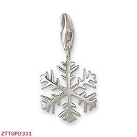 Free Shipping  wholesale  Snowflake  pendants,925 silver charm pendants,925 sterling silver jewelry,fashion pendants