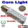 Wholesale 5050 SMD LED E27 8W 44 LED Corn Light Lamp Bulb 220V warranty 2 years CE ROHS Approve x 100pcs  -- ship via express
