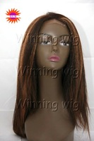mix color #3/#33 lace front wigs for black women made of natural raw indian hair