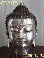 Collect from Tibetan Buddhist bronze SHAKYAMUNI buddha statue head 22 cm 2.5 KG  free shipping