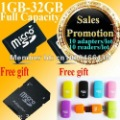 Free shipping ,Full capacity,sd card memory 8g  ,with card reader and adpater , high speed TF card,well packing !