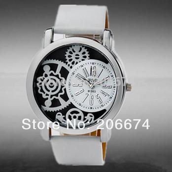 Hot fashion women Hollow out Casual Luxury Leather Quartz Women dress Watchs Women Dress Wristwatches relogio feminino