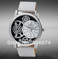 latest style,Valiia Unisex Stripe Design Analog Watch(Black+White) women's watch free shipping