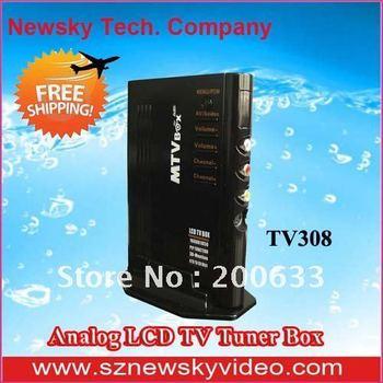 Analog LCD TV Tuner Box, Analog Signal NTSC External VGA TV Box  For CRT LCD Monitor -TV308